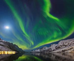 northern light, norway, and perfect image