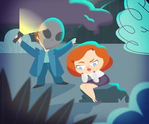 alien, art, and dana scully image
