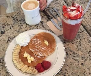 coffe, strawberry, and 🍓 image