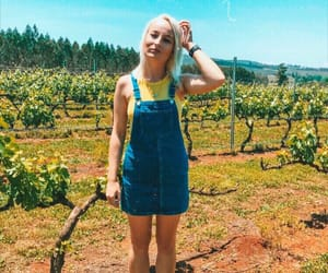 blonde, denim, and fashion image
