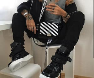 black, outfit, and streetwear image