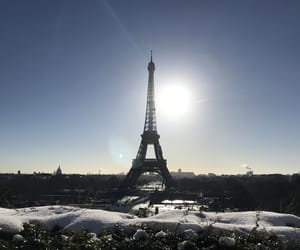 aesthetic, snow, and eiffel tower image