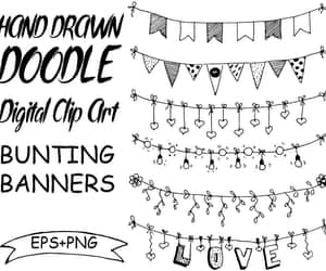 banners, decoracion, and doodle image