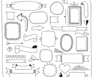 banners, decoracion, and doodles image