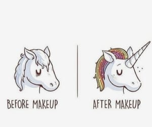 colors, unicorn makeup, and fantasy image