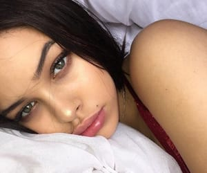 beautiful, bed, and face image