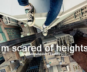 fear, heights, and scared image