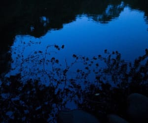 blue, water, and dark image
