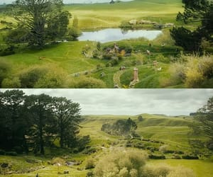 countryside, green, and jrr tolkien image