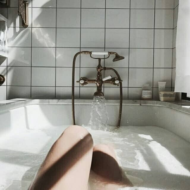 bath, girl, and design image