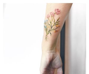 body art, floral, and tattoo image