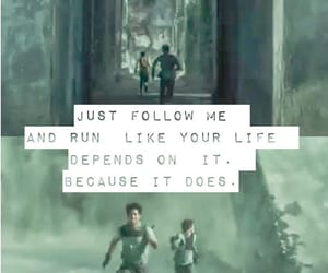 maze runner, quotes, and thomas image