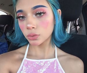 dyed hair, fashion beauty pretty, and eyes eyebrows brows image