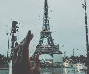 paris, rain, and france image
