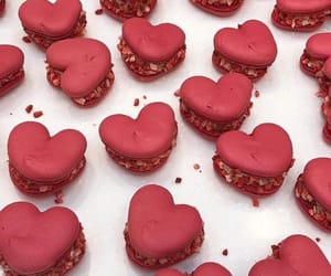 food, hearts, and red image