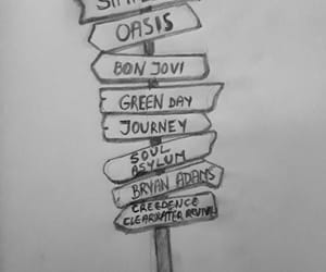bryan adams, green day, and journey image