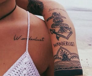 tattoo, wanderlust, and summer image