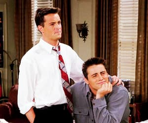 chandler bing, joey tribbiani, and friends image