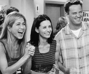 chandler bing, monica geller, and rachel green image