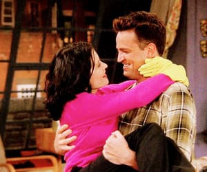 chandler bing, love, and monica geller image