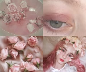 flor, pink pastel, and flores image