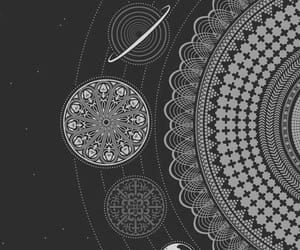 wallpaper, planet, and mandala image