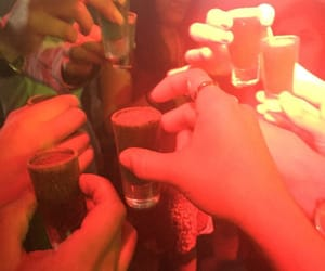 drinks, friend, and Shots image