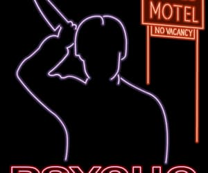 Psycho, horror, and neon image