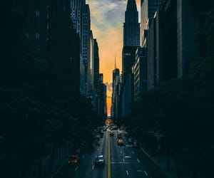 city, wallpaper, and sunset image