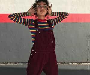 90's, fashion, and rainbow image