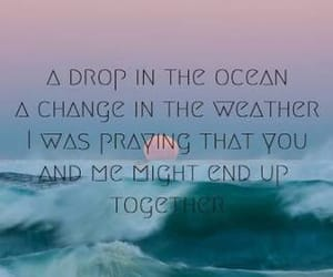 ocean, quote, and waves image