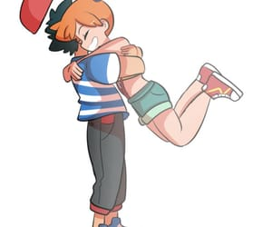 ash, misty, and pokemon image