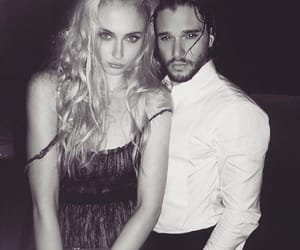 game of thrones, sophie turner, and jon snow image