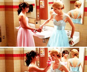 glee, faberry, and rachel berry image