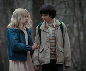 eleven, stranger things, and mike wheeler image