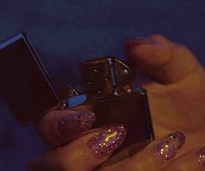 gif, lighter, and nails image