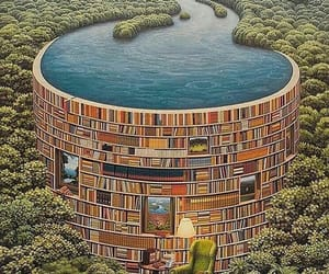 books, bookworm, and library image