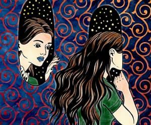 dark, girl, and girls image