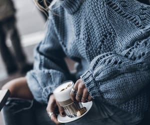 fashion, coffee, and look image