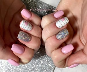 nails, pink, and Valentine's Day image