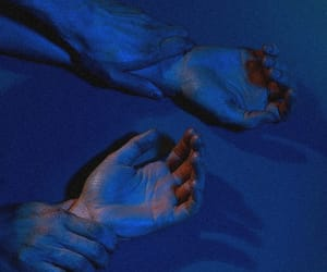blue, aesthetic, and hands image