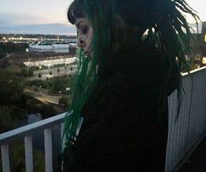 dreadlocks, dreads, and green hair image