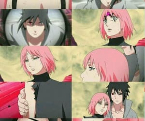 anime girl, sakura, and sasusaku image