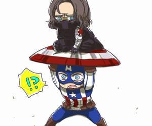 captain america, Marvel, and bucky barnes image