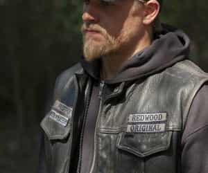 bad boy, blue eyes, and Charlie Hunnam image