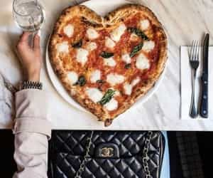 pizza, food, and chanel image