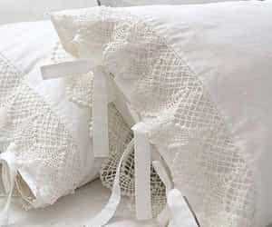 lace, pillow, and white image