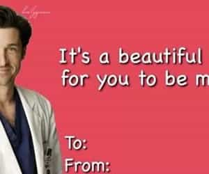funny, Valentine's Day, and grey's anatomy image