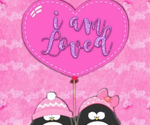 amor, heart, and penguins image