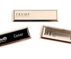 corporate gifts and hotel name badges image